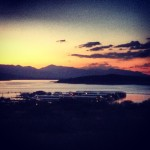Coucher de soleil sur le Roosevelt Lake