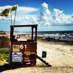 La plage de Galveston