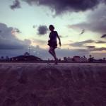 Coucher de soleil à Saint-Augustine beach