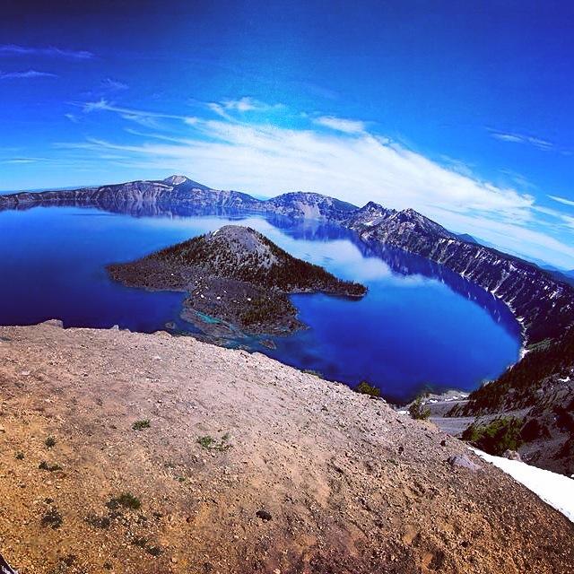 Crater Lake au fisheye