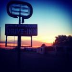 Coucher de soleil sur la Route 66
