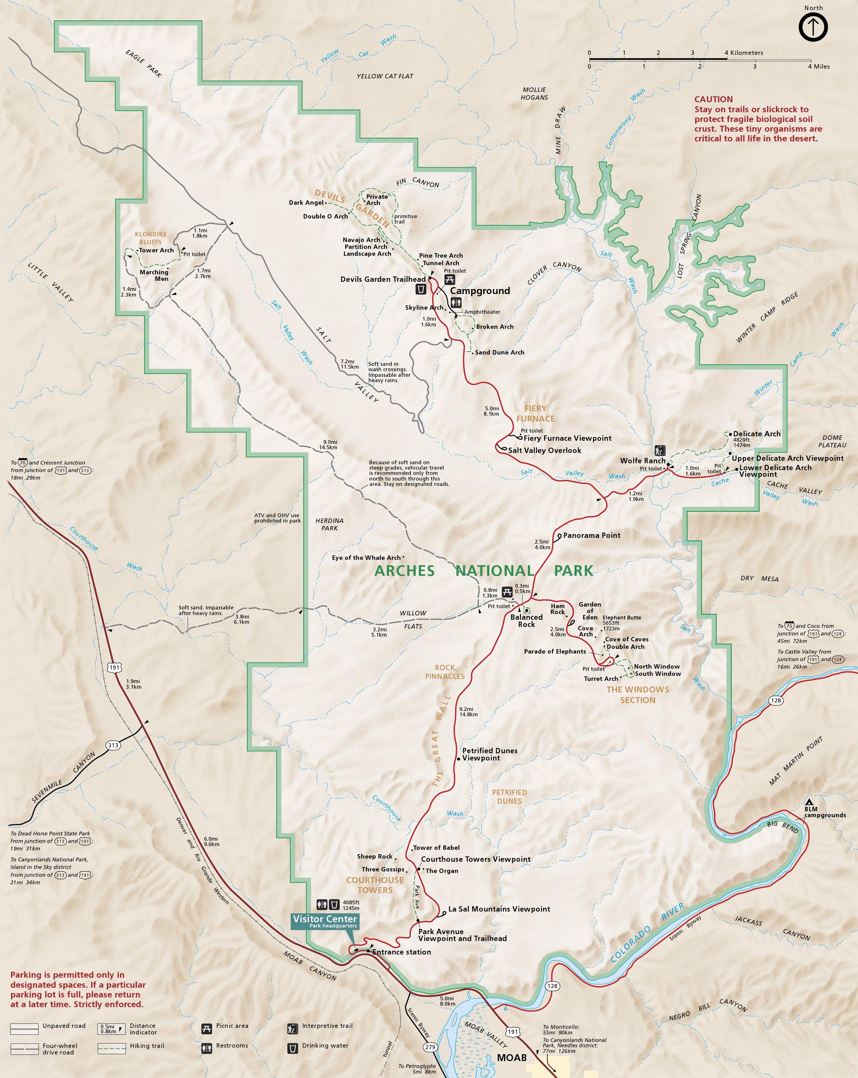 Arches National Park De Grands Travaux En 2017 Road