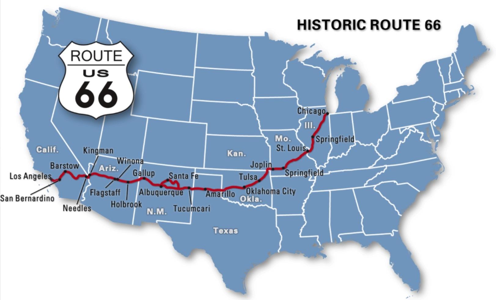 Route 66 Grandeur D 233 Cadence Et Renaissance Lost In