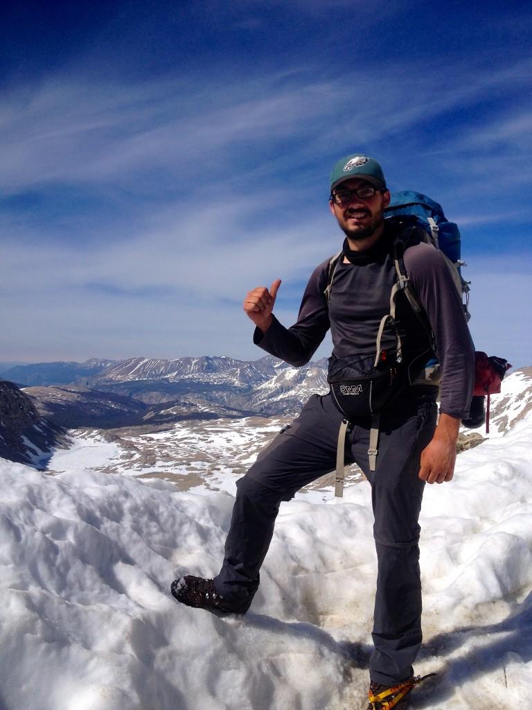 Au sommet de Forester Pass, point culminant du PCT à 4009 mètresIMG_1338