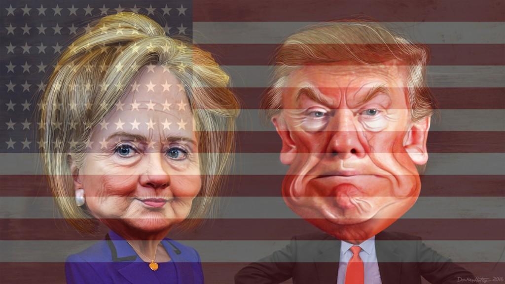Montage Trump Clinton