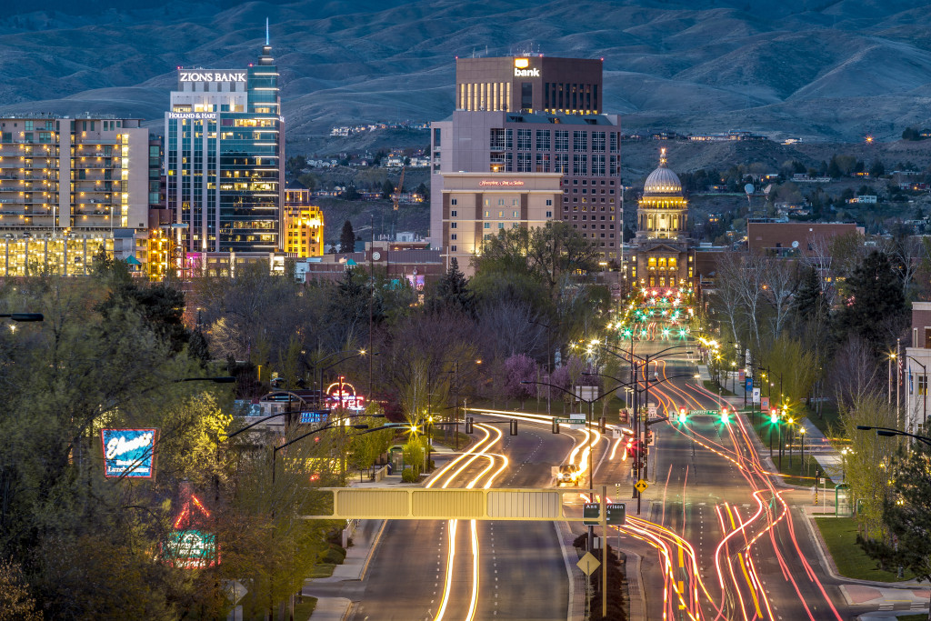cityscape-of-boise-lighted-up-in-boise-idaho