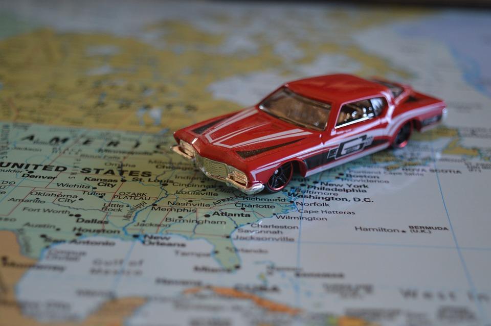 America Car Map Road Trip Atlas United States